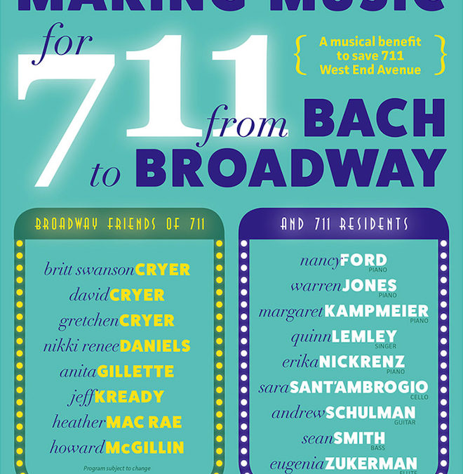 MAKING MUSIC Event for 711 West End Avenue!