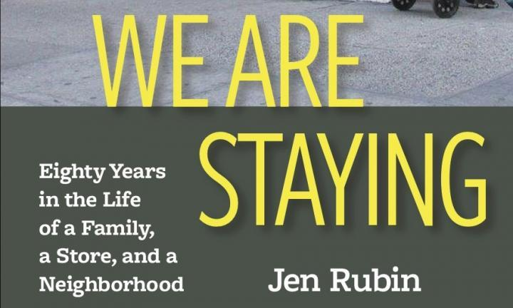 "LW! Author's Talk:  ""We Are Staying"" by Jen Rubin in conversation with  Amy Harmon of the New York Times"
