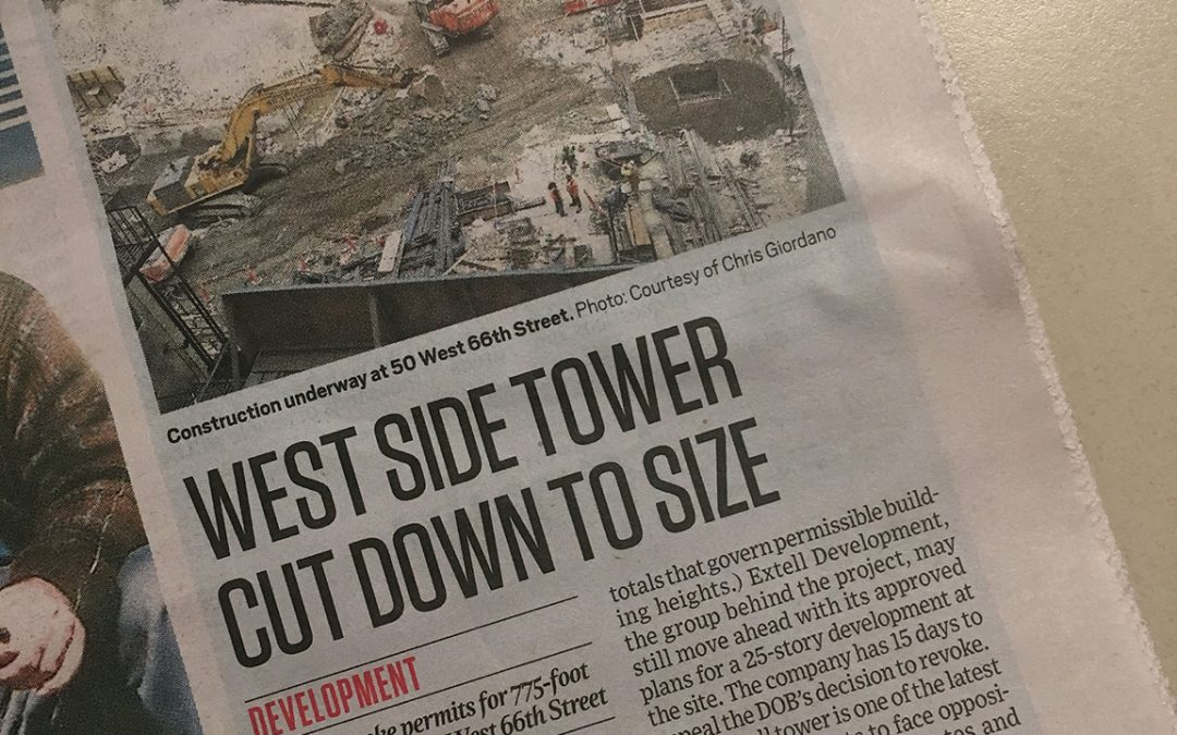 The Spirit: West Side Tower Cut Down to Size