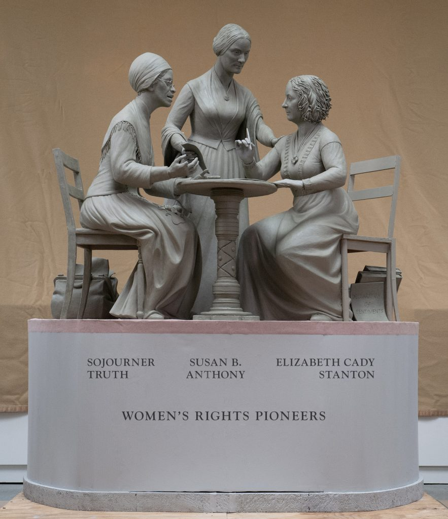 Unveiling of the Women's Rights Pioneers Monument – Literary Walk (The Mall, Central Park)