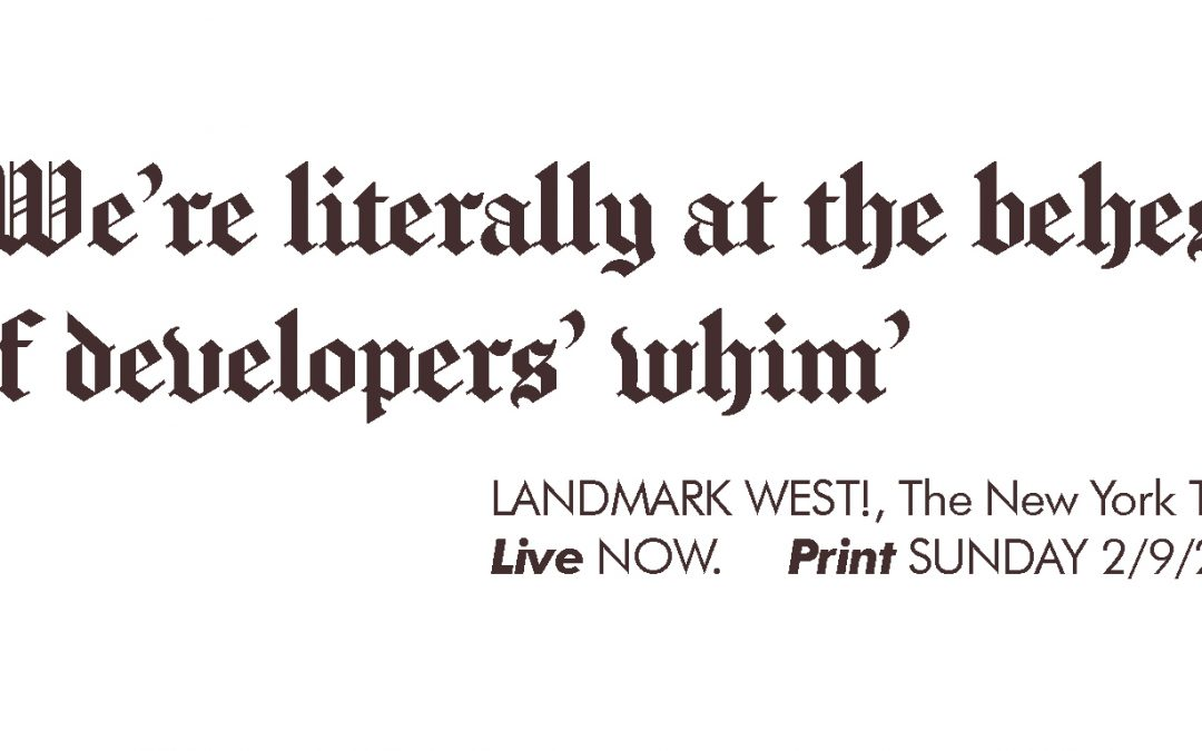 'We're literally at the behest  of developers' whim'