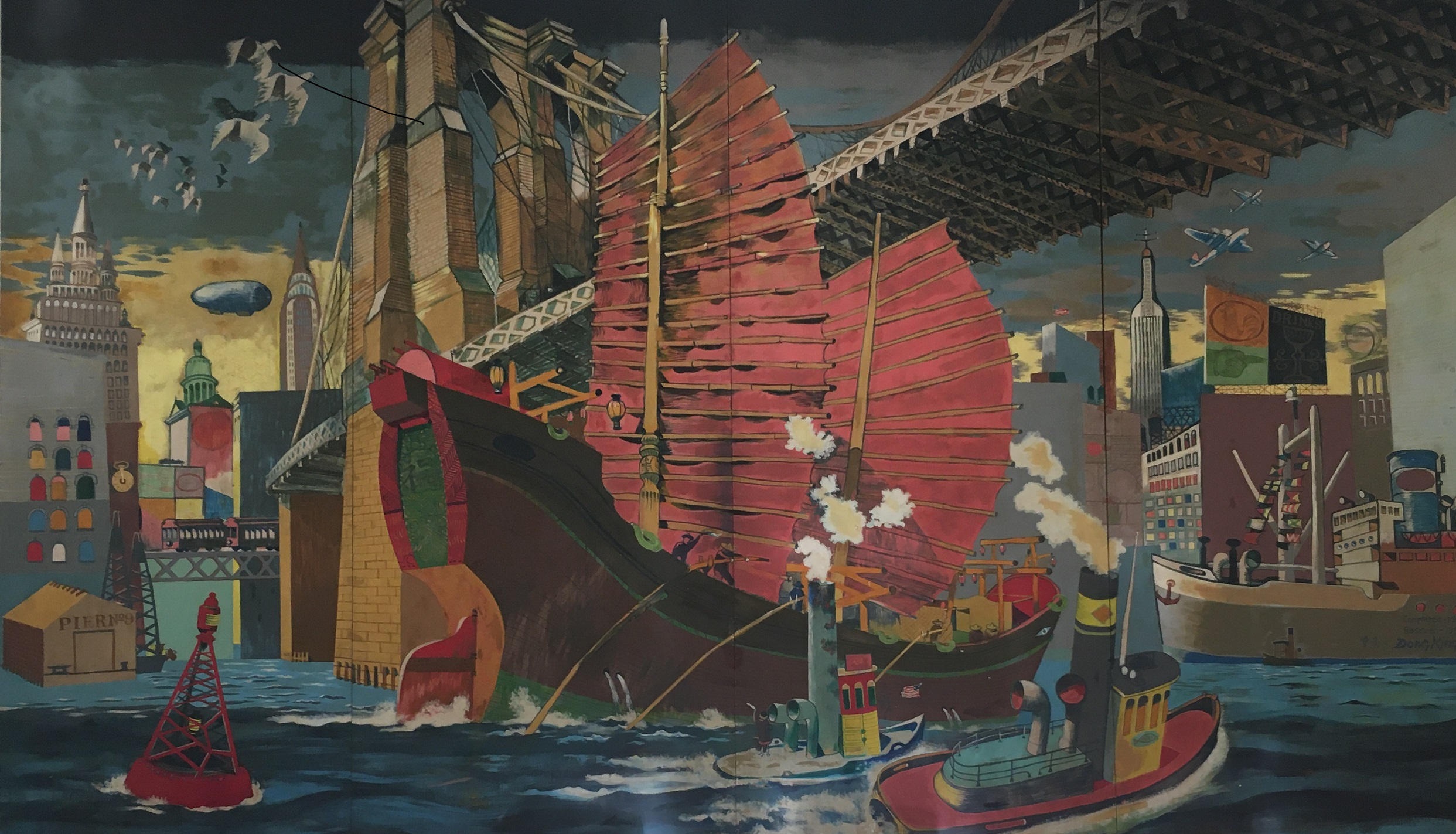 East Meets West Mural – An UWS History Mystery Solved by Claudie Benjamin